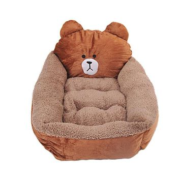 Cartoon Bear Pet Dog Bed