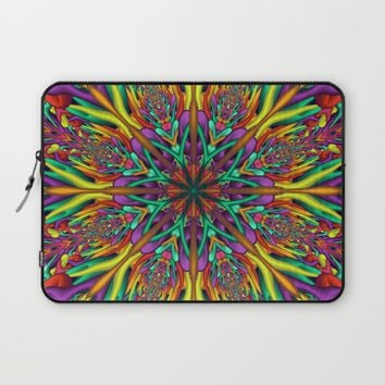 Crazy colors 3D mandala Laptop Sleeve by Natalia Bykova