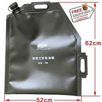 20l Portable Petrol Bag Foldable Fuel Can Gasoline Tank Bucket Storage Container Oil Jerry Can