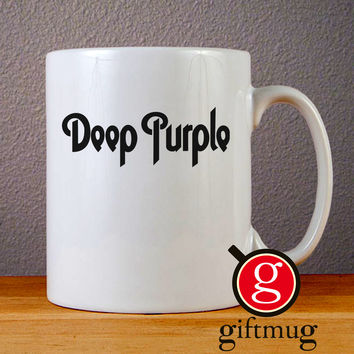Deep Purple Logo Ceramic Coffee Mugs