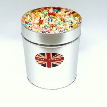New and Improved Original Bibble Candy Popcorn Mix 3.5 Gallon Tin