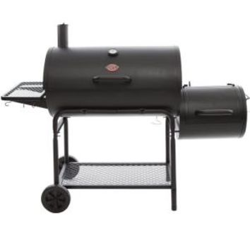 Char-Griller Smokin' Champ Charcoal Grill Horizontal Smoker in Black 1624 at The Home Depot - Mobile