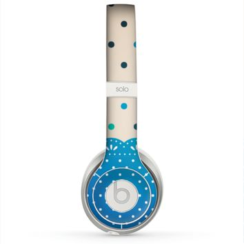 The Tan & Blue Polka Dotted Pattern Skin for the Beats by Dre Solo 2 Headphones