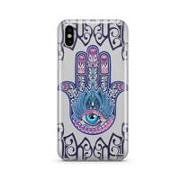Colored Hamsa - Clear TPU Case Cover