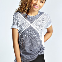 Maisie Sublimation Paisley Tee