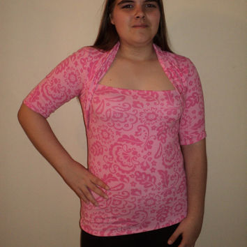 SAMPLE sale mjcreation top shirt stretch knit lycra medium pink