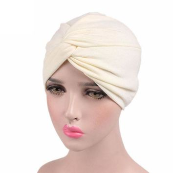 ONETOW Knot Front Cotton Hat - Head Wrap