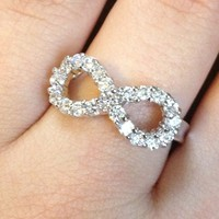 Diamond CZ Infinity Ring from GemEnvy