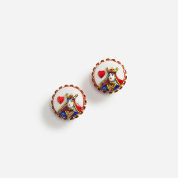 Jewellery and Bijoux for Women | Dolce&Gabbana - QUEEN OF HEARTS EARRINGS