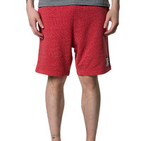 The Speckle Jersey Shorts in Red