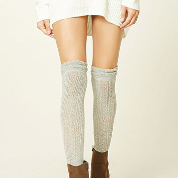 Open-Knit Over-The-Knee Socks