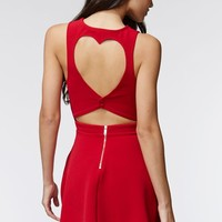 Kendall & Kylie Heart Cutout Dress - Womens Dress - Red