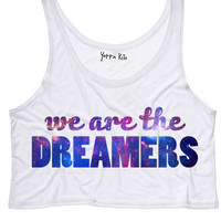 We Are The Dreamers Crop Tank Top