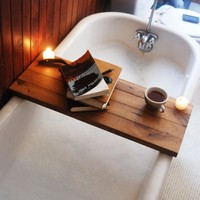 Supermarket: Tub Caddy made of Reclaimed Oak from Peg and Awl