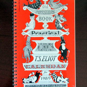 Old Possum's Book of Practical Cats Desk Calendar for 1989 - Drawings by Edward Gorey