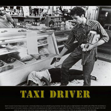 Taxi Driver Film Review Poster 24x34