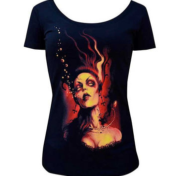 Drowning Womens Scoop Neck Tee