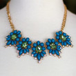 Spring Jewels Necklace {Teal + Green}