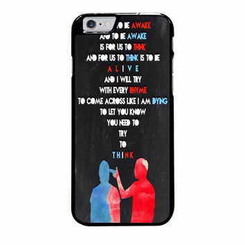 twenty one pilots quotes iphone 6 plus 6s plus 4 4s 5 5s 5c cases