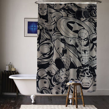Marvel Super Heroes Comics Characters special custom shower curtains available size