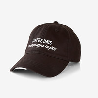Coffee Days Champagne Nights Baseball Hat