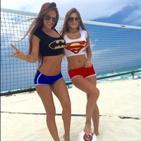 Batman Crop Top in Red or Blue