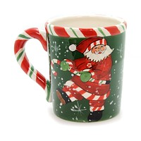 Tabletop Santa Peppermint Mug Christmas Tabletop
