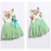 girl dress 2014 summer floral baby girl dress princess tutu dress 3 color for 2-5 age infant dresses kids clothing - Default