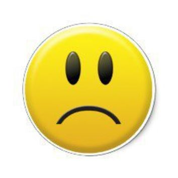 Sad Smiley Face Stickers