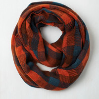 Train Station Anticipation Circle Scarf in Paprika by ModCloth