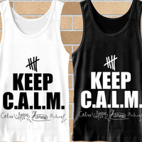 Popular keep calm 5sos signature,5second of summer tank top mens,Tank top Woman,tank top girl Available for size S,M,L,XL,XXL Black,White