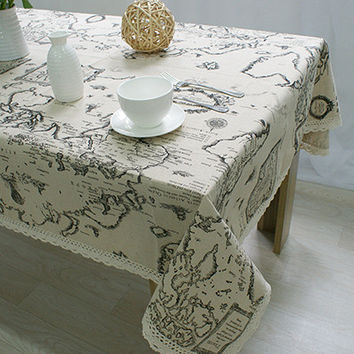 Lace Tablecloth Decorative Elegant Table Cloth