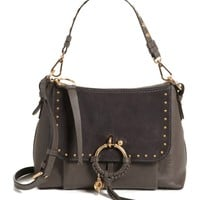 See by Chloé Joan Studded Leather & Suede Shoulder Bag | Nordstrom