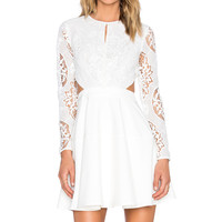 Line & Dot Mon Cherie Lace Dress in White