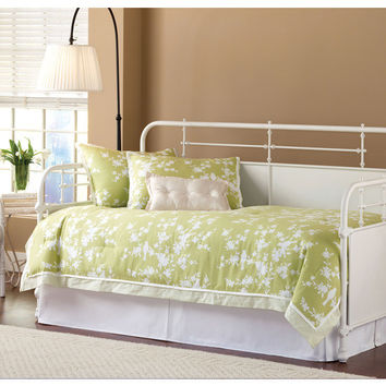 1708-kensington-daybed-w-suspension-deck-and-roll-out-trundle-textured-white - Free Shipping!