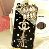 New Chic Luxury Four Leaf Clover Bling Rhinestones Mobile Cell Phone Case For iPhone 4s 5s 5c 6 Plus Samsung - Casemoda | Pinkoi