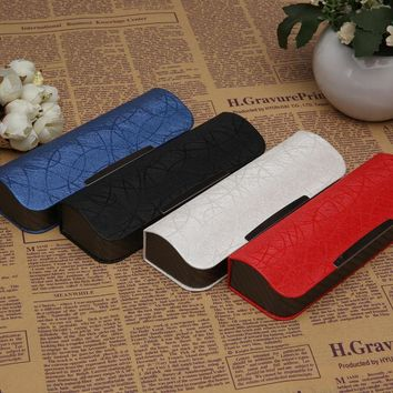 High Quality Hard Sunglasses Case Leather Spectacle Cases Glasses Cover Eye Contacts Lens Colored Women Men Myopia Mirror Box