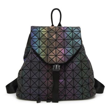 Bao Bao geometric patchwork diamond lattice sequin backpack drawstring bag mochila sac a dos For Teenage girl BaoBao School Bags