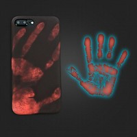 Funny Hand Thermal Sensor Case For iphone 8 7 6 6S Plus Cover Ultra Thin Soft Silicon Physical thermal discoloration Phone Cases