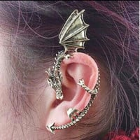 Drangon Clip Earrings Ear Cuff