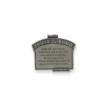 Harbor House Lead-free Metal Trust in the Lord Visor Clip