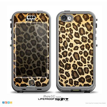The Vibrant Leopard Print V23 Skin for the iPhone 5c nüüd LifeProof Case