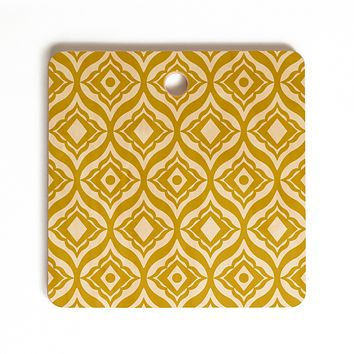 Heather Dutton Trevino Yellow Cutting Board Square