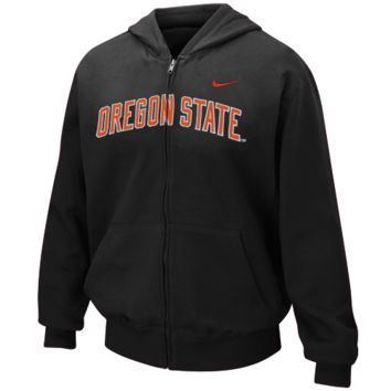 Nike Oregon State Beavers Youth Girls Classic Arch Full Zip Hoodie Sweatshirt - http://www.shareasale.com/m-pr.cfm?merchantID=7124&userID=1042934&productID=505599088 / Oregon State Beavers