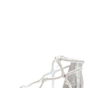 Liliana Omar1 Silver Rhinestone Jewel Gladiator Sandals and shop shoes at MakeMeChic.com