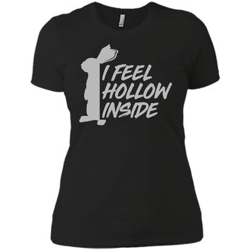 I feel hollow inside funny chocolate easter bunny t shirt Next Level Ladies Boyfriend Tee