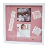 Fetco Downing Shadowbox Frame (Pink/White)
