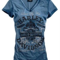 Harley-Davidson® Women's Black Label Short Sleeve Tee 96204-14VW