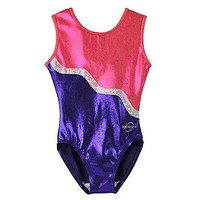 O3GL018 Obersee Girls Gymnastics Leotards One-Piece Athletic Activewear Girl's Dance Outfit Girls' & Women's Sizes - Purple Ribbon