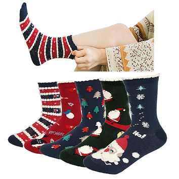 New Women's Snowflake Christmas tree Cotton Casual Socks Ladies Female Girl Men Christmas Gift Hosiery One Size EUR 35-41 MA0142